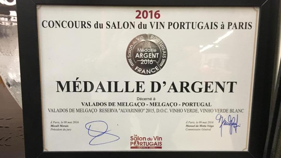 Medalha de Prata – Valados de Melgaço Colheita 2015