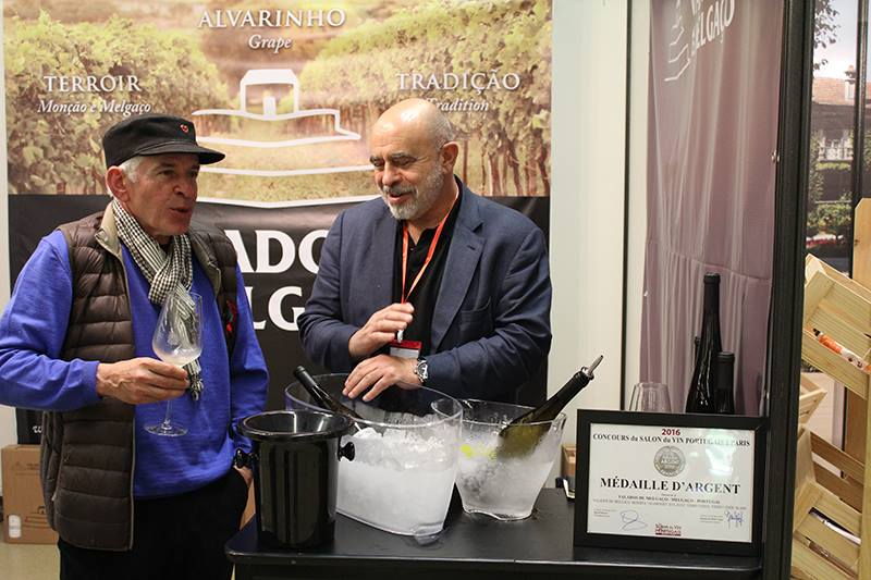 "Valados de Melgaço at ""Le Salon du vin Portugais"" in France."
